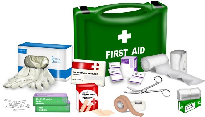 جعبه کمک های اولیه برای سفر
