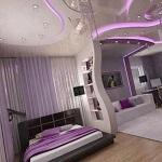 اتاق خواب و چیدمان اتاق و سقف کاذب آن